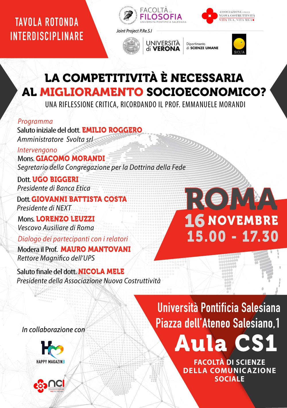 Tavola Rotonda - La competitività è necessaria al miglioramento socioeconomico